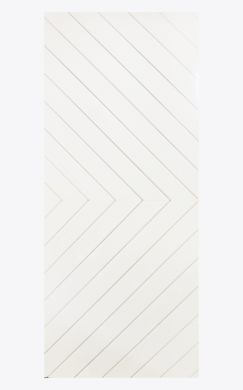 Chevron Paint Grade Door